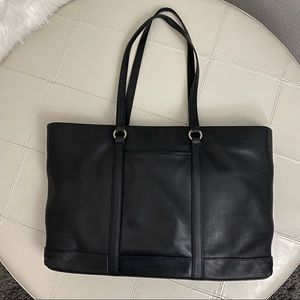Coach Black Large Leather Tote